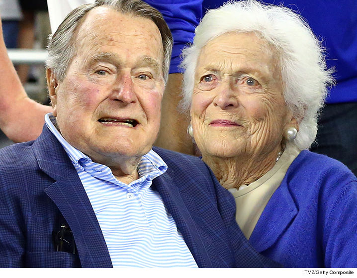 George H.W. Bush was just admitted to intensive care unit with pneumonia and his wife, Barbara, was also admitted.