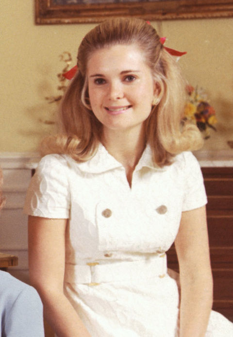 Tricia Nixon, daughter of 37th President Richard Nixon.