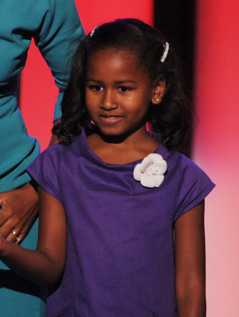 Sasha Obama, daughter of 44th President Barack Obama.