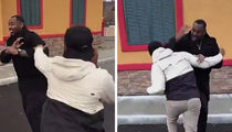 Jon Jones Street (Play) Fighting with NFL Star Brother