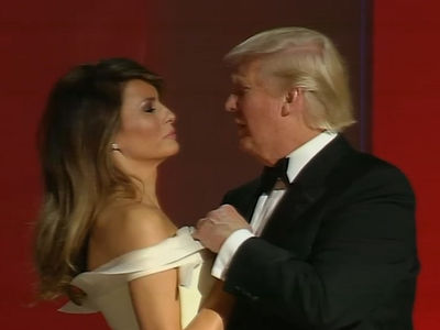 President Trump & Melania's First Dance (VIDEO)