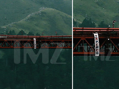 'Hollyweed' Sign Guy Hits Golden Gate Bridge with Anti-Trump Banner (PHOTOS)