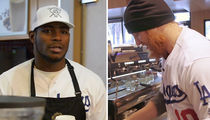 Yasiel Puig & Justin Turner GET TO WORK at L.A. Coffee Shop (VIDEO)