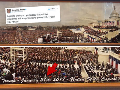 Donald Trump Brags About Inauguration Day Pic with Wrong Date (PHOTO)