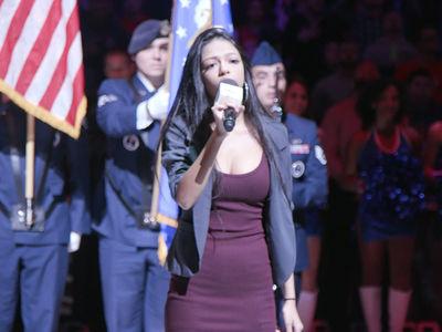 M. Night Shyamalan's Daughter Crushes Nat'l Anthem at 76ers Game (VIDEO)