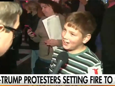 Drew Carey's Son Was That Mini-Bonfire Kid at Trump Protest (VIDEOS + PHOTO)