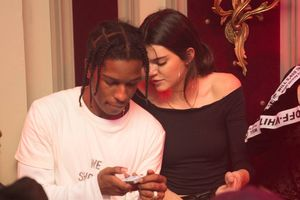 Kendall Jenner Hugs A$AP Rocky in Paris