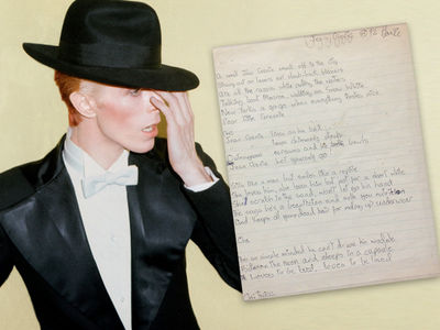 Get David Bowie's 'Genie' Handwriting for $50k (PHOTO GALLERY)