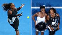 Serena Williams Beats Big Sister Venus for Record Win (PHOTO GALLERY)