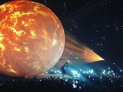 Drake's Giant 'Burning' Ball Back in Action