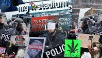 Super Bowl Cops Brace for Trump Protesters, Marijuana Lovers
