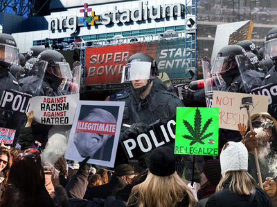 Super Bowl Cops Brace for Trump Protesters, Marijuana Lovers