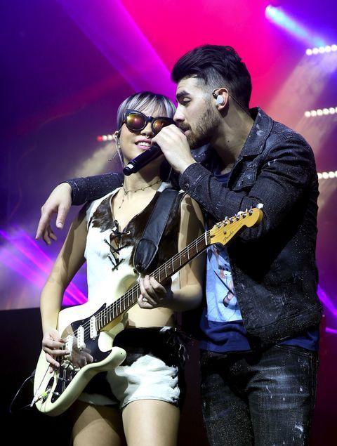 Joe Jonas performing at the Maxim Super Bowl Party
