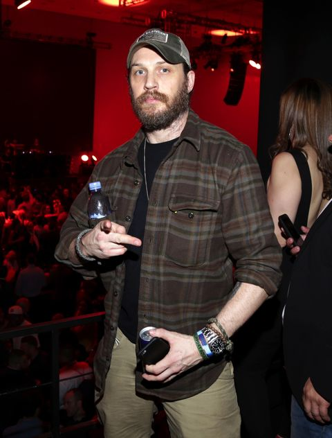 Tom Hardy at the Rolling Stone Live Party