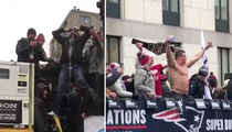 Gronk TOPLESS BEER POUNDING ... At Super Bowl Parade (VIDEO + PHOTO)