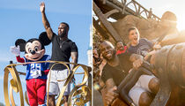 Super Bowl Hero James White -- PARTY AT MICKEY MOUSE'S PLACE! (PHOTO GALLERY)