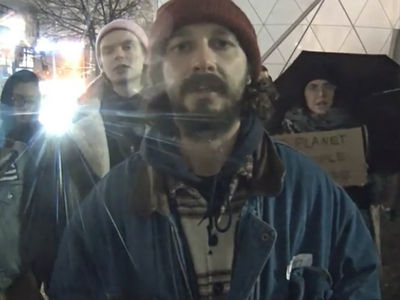 He Will Not Divide Us Spray Painted