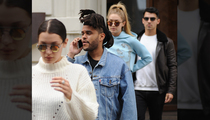 The Weeknd Shows Up to Dinner, Selena Look-alike There Too! (PHOTOS)