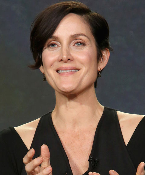 Carrie-Anne Moss was recently photographed looking blissful.