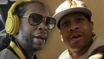 2 Chainz & Allen Iverson's Riders Littered with Top-Shelf Booze!!
