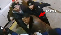 Angry Joey Porter Security Footage Released ... Scary but NOT Violent (VIDEO)