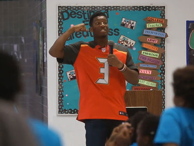 Jameis Winston Speech to Kids -- Boys Should Be Strong, GIRLS SHOULD BE SILENT (VIDEO)