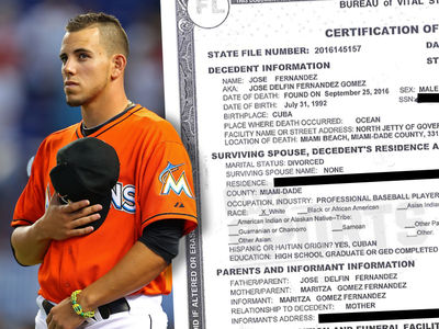Jose Fernandez's Death Certificate Reveals He was Divorced (DOCUMENT)