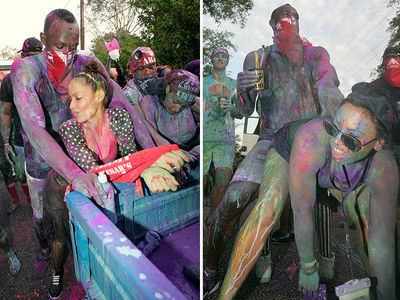 Usain Bolt Parties in Paint At Carnival (PHOTO GALLERY)