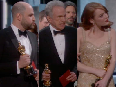 Oscars Crowd Reacts to Best Picture Snafu (PHOTO GALLERY)