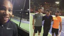 Serena Williams Crashes Random Tennis Match ... Mind If I Play?? (VIDEO)