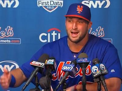 Tim Tebow: Baseball Is NOT My Life's Calling ... I've Got MUCH BIGGER Plans! (VIDEO)