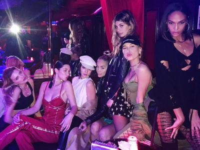 Bella Hadid, Kendall Jenner Hit Paris Strip Club with Model Pals (PHOTOS)