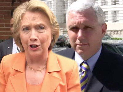 Hillary Clinton Bones Up on Emails, Mike Pence's Emails! (PHOTO)
