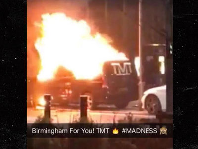Floyd Mayweather Custom Van Torched in the UK (UPDATE)