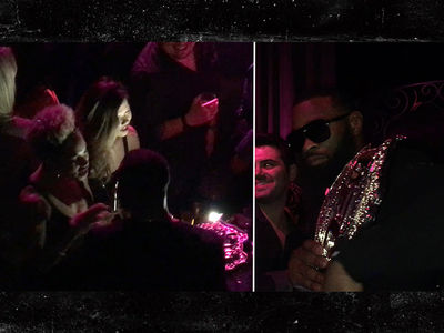 Tyron Woodley Pumped at After-Party After Win Against Thompson (VIDEO)