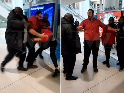 Faizon Love's Airport Fight Footage, 'Lemme Show You What a Man Do!' (VIDEO)