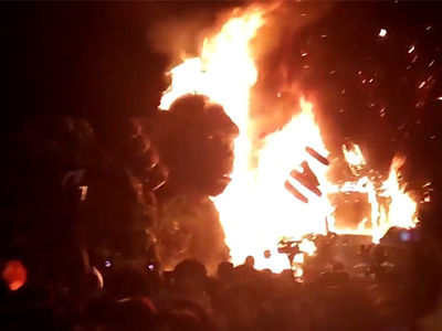 'King Kong' Premiere Goes up in Flames!!! (VIDEO)