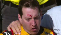 Kyle Busch Fights Joey Logano After Spinning Out at NASCAR's Kobalt 400 (VIDEO)