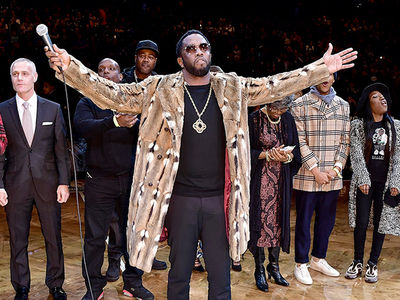Biggie Smalls Honored At Brooklyn Nets Game ... Diddy Holds Court (VIDEO)
