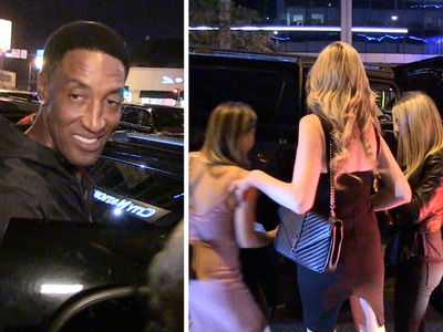 Scottie Pippen Hits Clubs without Larsa ... Leaves with Hot Chicks (VIDEO)