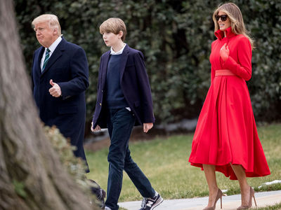 Barron Trump Finally Strolls White House Grounds (PHOTO)