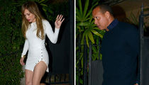 J Lo and A-Rod Leg Out Miami Dinner Date (PHOTOS)