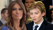 Melania and Barron Trump White House Bound in June