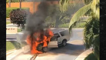 Waka Flocka Flames Out in Mexico, Ride Catches Fire! (VIDEO)