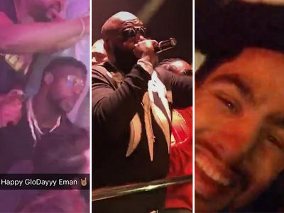 NFL's Emmanuel Sanders Crazy BDay TURN UP with Rick Ross, Danny Garcia (VIDEO)