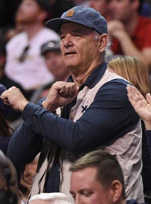 Bill Murray FIRED UP After Xavier Upset ... My Son's a Coach!!
