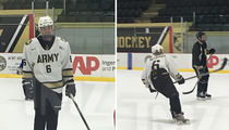Justin Bieber Plays Hockey with West Point Team (PHOTO GALLERY)
