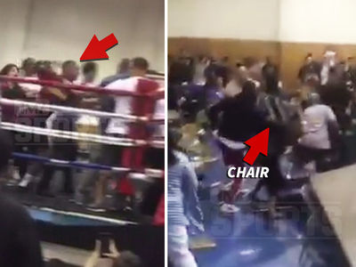 Golden Gloves Ring Brawl ... Woman Hits Man with Steel Chair! (VIDEO)