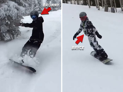 Lebron James' Kids Can Snowboard? Hell Yeah! (VIDEO)