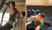 Mark Zuckerberg's Workout Partner Is 16 Months Old (VIDEO)